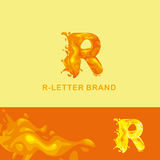 Liquid letter logo R Royalty Free Stock Images