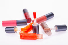 Liquid lip gloss Stock Image