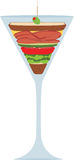 Liquid Lunch Martini Glass Royalty Free Stock Photos