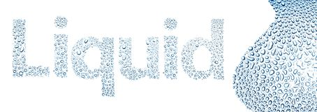 Liquid made of water drops, background on white vector illustration