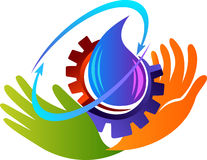 Liquid manufacture logo vector illustration