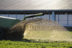 Liquid Manure. Is sprayed on the field to fertilize it Royalty Free Stock Images