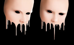 Liquid masks. With smudges for the person Royalty Free Stock Images