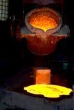Liquid metal Stock Photo