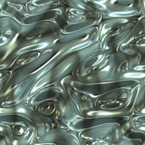 Liquid metal. A large abstract image of flowing and moving liquid metal Royalty Free Stock Images