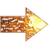 Liquid Metal Arrow Royalty Free Stock Photo