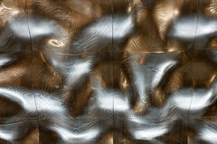 Liquid metal background texture ceiling silver roof Stock Photos
