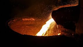 Liquid metal in the Foundry stock footage