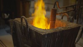 Liquid metal, melting metal, the molten metal stock footage