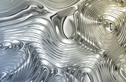 Liquid Metal Texture Stock Photography