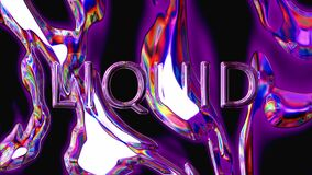 Liquid metall. Abstract moving fluid. Visual illusions, moving waves.