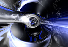 Liquid metall in blue light 02 Royalty Free Stock Images
