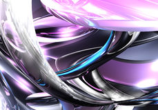 Liquid metall in violette light Royalty Free Stock Images