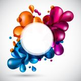 Liquid multicolor background. Royalty Free Stock Photos
