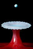 Liquid Mushroom With A Drop Still To Fall Royalty Free Stock Photos