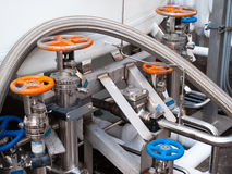 Liquid nitrogen handling equipment Stock Photos