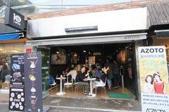 Liquid nitrogen ice cream shop in Seoul, South Korea Stock Photography