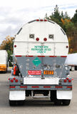 Liquid Nitrogen UN1977 Truck Royalty Free Stock Photography