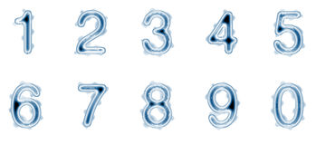 Liquid numbers Royalty Free Stock Photography