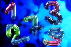 Liquid numbers Royalty Free Stock Image