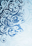 Liquid ornament. Shaped from swirls and curls Royalty Free Stock Photo