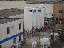 Liquid Oxygen Storage Tanks Royalty Free Stock Photos