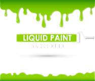 Liquid paint background or frame Stock Photos