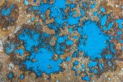 Liquid paint. Drop art background- liquid paint on rusty metal surface Stock Photography