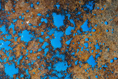 Liquid paint. Drop art background- liquid paint on rusty metal surface Royalty Free Stock Photo