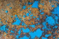 Liquid paint. Drop art background- liquid paint on rusty metal surface Stock Photo