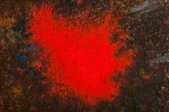 Liquid paint. Drop art background- liquid paint on rusty metal surface Royalty Free Stock Image
