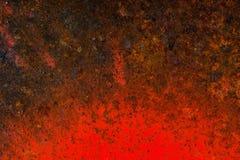 Liquid paint. Drop art background- liquid paint on rusty metal surface Stock Photos