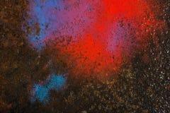Liquid paint. Drop art background- liquid paint on rusty metal surface Stock Images