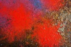 Liquid paint. Drop art background- liquid paint on rusty metal surface Stock Image