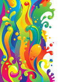 Liquid paints. Vertical flow of liquid paints Stock Photo