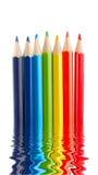 Liquid pencils Stock Image