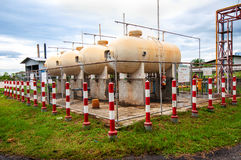 Liquid Petroleum Gas (LPG) storage Royalty Free Stock Image