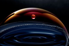Liquid planets in the space Stock Images