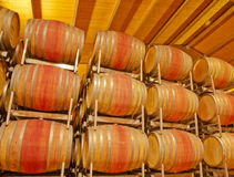 Liquid Relaxation--Wine Barrels in Tuscany Stock Photos