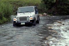 Liquid Roadway. Jeep 4-wheeling above Lead King Basin Royalty Free Stock Photo