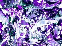 Liquid seamless pattern. Purple watercolor brush stroke grunge design. Watercolour abstract splash paint design. Hand drawn ink blots. Dirt splat pattern stock illustration