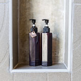 Liquid shampoo and soap in bottles Royalty Free Stock Photography