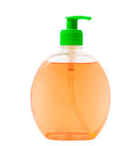 Liquid soap. On a white background royalty free stock photos
