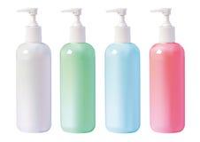 Liquid Soap. Few bottles of liquid soap isolated on white Royalty Free Stock Photos