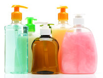 Liquid soap. Color of the bottle. Isolated on white background stock image