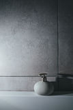 Liquid soap in bottle. interior; bath; toilet; Royalty Free Stock Photo