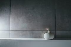 Liquid soap in bottle. interior; bath; toilet; Stock Photos