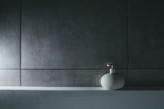 Liquid soap in bottle. interior; bath; toilet; Stock Photography