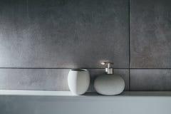 Liquid soap in bottle. interior; bath; toilet; Royalty Free Stock Photos