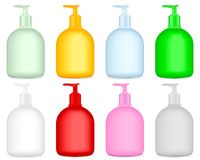 Liquid soap. Container set on a white background royalty free illustration